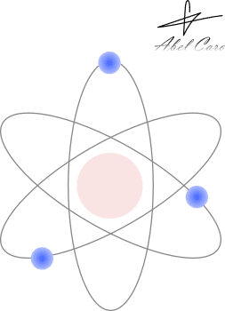 atomo con electrones