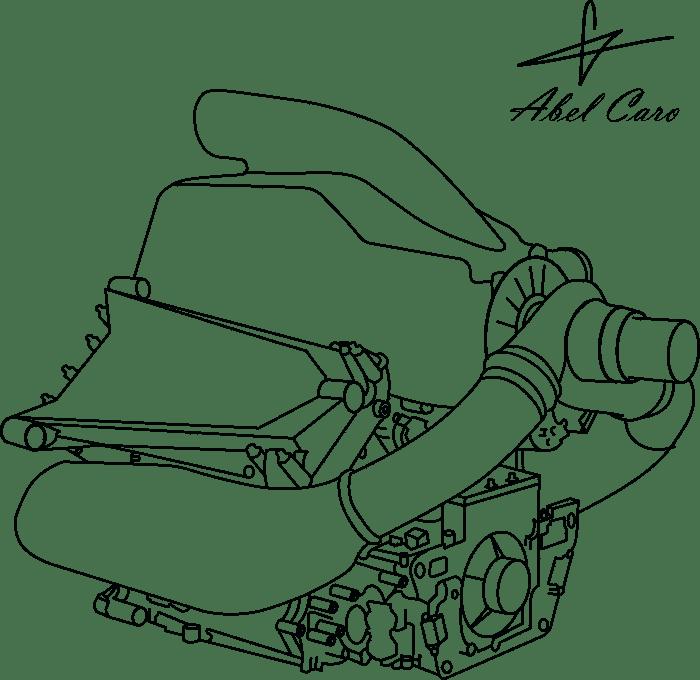 Motor y unidad de potencia Honda F1
