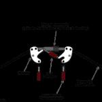 Esquema general de la suspensión de un fórmula 1